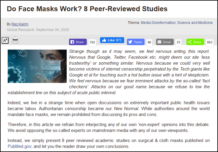 masks research